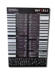 Vzorková tabule s LED profily WIRELI 2021-Vzorková tabule s aktuální nabídkou hliníkových profilů.
