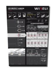 Vzorková tabule s LED profily WIRELI VARIO 2021-Vzorková tabule s aktuální nabídkou hliníkových profilů VARIO30.
