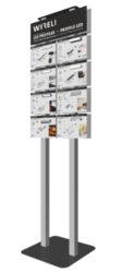 Vzorkový display s LED profily WIRELI 2021-Vzorkový stojan s ukázkou vybraných hliníkových profilů s osazenými LED pásky.