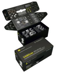 Vzorkový kufr s LED profily WIRELI VARIO 2021-Vzorkový kufr s typizovanými hliníkovými profily VARIO30 k testování.