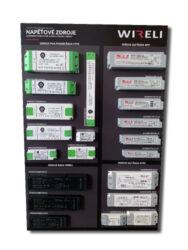 Vzorková tabule s LED napájecími zdroji WIRELI 2020