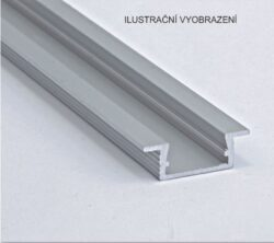 Profil WIRELI 02 ZAPUŠTĚNÁ leštěná 26x8x2000mm (metráž)