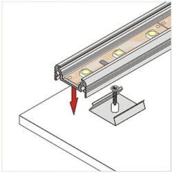 Montážní úchyt  U oválný otvor, nerez ocel (1kus)(3209009120)