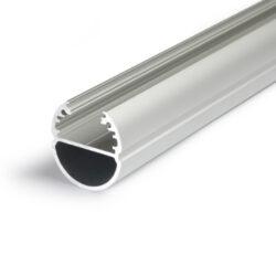 Profil WIRELI OVAL BC/ hliník anoda 2m (metráž)-Svitící závěsná tyč do šatní skříně.