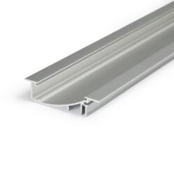 Profil WIRELI FLAT H/UX hliník anoda 2m (metráž)-Hliníkový LED profil s nepřímým svícením. ;