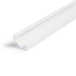Profil WIRELI60 CORNER BC/UX bílý komaxit 2m (metráž)-Universální přisazený úhlový  profil se svitem v úhlu 60° nebo 30°, s bohatou výbavou doplňků pro montáž a různými druhy difůzorů. Snadná práce a profesionální vzhled.