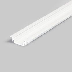 Profil WIRELI12 GROOVE BC/UX bílý komaxit 2m (metráž)-Nejprodávanější univerzální profil k zafrézování s bohatou výbavou doplňků pro montáž a různými druhy difuzorů. Snadná práce a profesionální vzhled.