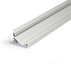 Profil WIRELI CORNER14 EF/Y 30/60° hliník anoda 2m (metráž)                     -Universální přisazený úhlový  profil se svitem v úhlu 60° nebo 30°, s bohatou výbavou doplňků pro montáž a různými druhy difůzorů. Snadná práce a profesionální vzhled.