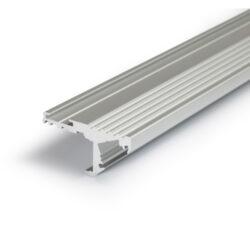 Profil WIRELI STEP-A C/ hliník anoda 2m (metráž)-Propracovaný systém osvětlení a ochrany čela schodnice s několika variantami montáže.