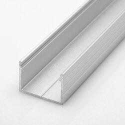 Profil WIRELI STRIPED nakládaná hliník anod. 18x13x2000mm (metráž)-Hluníkový LED profil s vyšší zástavnou hloubkou.