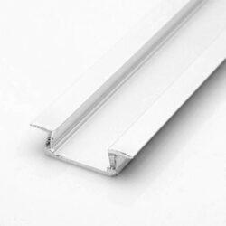 Profil WIRELI MIKRO IN hliník anoda 16x6x2000mm (metráž)-LED hliníkový profil k zafrézování s klipovým difuzorem.