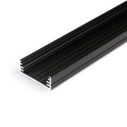 Profil WIRELI15 TRIPLEX WIDE24 G/W černá anoda 2m-Oblíbený univerzální široký profil s bohatou výbavou montážnívh doplňků.