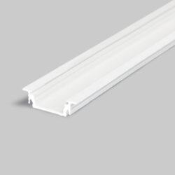 Profil GROOVE LINE 14 bílý komaxit 2000mm-Univerzální profil k zafrézování s bohatou výbavou doplňků pro montáž a různými druhy difuzorů. Snadná práce a profesionální vzhled.