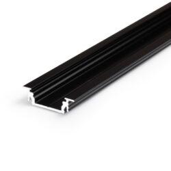Profil GROOVE LINE 14 černá anoda 2000mm-Univerzální profil k zafrézování s bohatou výbavou doplňků pro montáž a různými druhy difuzorů. Snadná práce a profesionální vzhled.