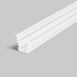 Profil WIRELI27 DEEP 10 BC/UX bílý komaxit 2m-Hliníkový LED osvětlovací profil s velkou zástavnou hloubkou pro vytvoření souvislé světelné linie.