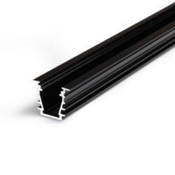 Profil WIRELI27 DEEP 10 BC/UX černá anoda 2m-Hliníkový LED osvětlovací profil s velkou zástavnou hloubkou pro vytvoření souvislé světelné linie.