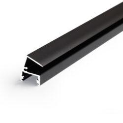 Profil WIRELI EDGE10 BC/ černá anoda 2m-Designový profil pro LED osvětlení vitrín a polic.