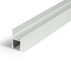 Profil WIRELI FRAME14 BC/Q hliník anoda 2m-Profesionální profil pro zakončení sádrokartonu světelnou linkou. Jako kvalitnější a levnější varianta nahrazuje původní profil WIRELI 23 sádrokarton roh.