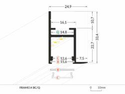 Profil WIRELI FRAME14 BC/Q hliník anoda 2m(3209210120)