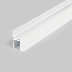 Profil WIRELI FRAME14 BC/Q bílý komaxit 2m-Profesionální profil pro zakončení sádrokartonu světelnou linkou.