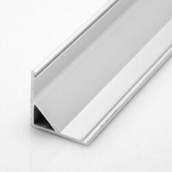 Profil WIRELI UNI CORNER rohová lišta 16x16x2 m hliník anoda (metráž)           -Rohový hliníkový LED profil se snadnou montáží 45°.