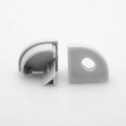 Koncovka UNI CORNER šedá oblouková s otvorem, ks-Koncovka profilu WIRELI UNI CORNER45° šedá oblouková s otvorem.