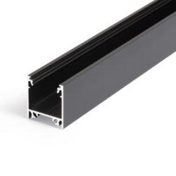 Profil WIRELI LINEA20 EF/TY černá anoda 2m (metráž)-Moderní profil pro stropní liniová LED svítidla.