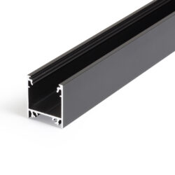 Profil WIRELI LINEA20 EF/TY černá anoda, 2m (metráž)-Moderní profil pro stropní liniová LED svítidla.