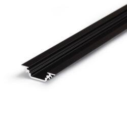 Profil WIRELI TRIO BC/ 45/90° černá anoda 2m-Miniaturní rohový profil 45°nebo pro kolmé zafrézování do podložky.