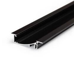 Profil WIRELI31 FLAT H/UX černá anoda 2m (metráž)-Hliníkový LED profil s nepřímým svícením.