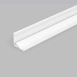 Profil WIRELI CABI12 E/ bílý komaxit 2m-Universální rohový LED profil umožňující montáž se směrem svitu 60°nebo 30°.