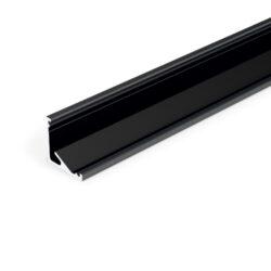 Profil WIRELI CABI12 E/ černá anoda 2m-Universální rohový LED profil umožňující montáž se směrem svitu 60°nebo 30°.