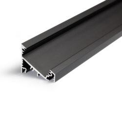 Profil WIRELI CORNER27 G/UX 30/60° černá anoda 2m (metráž)                      -Universální přisazený úhlový  profil se svitem v úhlu 60° nebo 30°, s bohatou výbavou doplňků pro montáž a různými druhy difůzorů. Snadná práce a profesionální vzhled.
