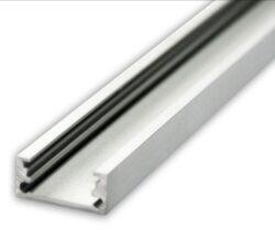 Profil WIRELI SWEDEN ALU anod 4000mm (metráž)-Hranatý hliníkový přisazený LED profil.