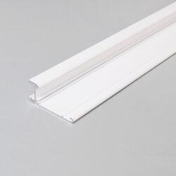 Profil WIRELI WALLE12 A2 BCD/ základna bílý komaxit 2m-Základna designového profilu pro vytvoření světelné linie na stěně, u stropu, na fasádě apod.