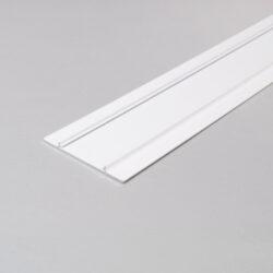 Profil WIRELI WALLE12 B2 vnější kryt bílý komaxit 2m-Kryt základny designového profilu pro vytvoření světelné linie na stěně, u stropu, na fasádě apod