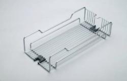 Koš pro potravinovou skříň, 400, drátěný, 350x480x95 mm, chrom(38211014)