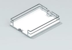 Koš pro potravinovou skříň ECO, 400, plné dno, 350x460x96 mm, chrom(45046014)